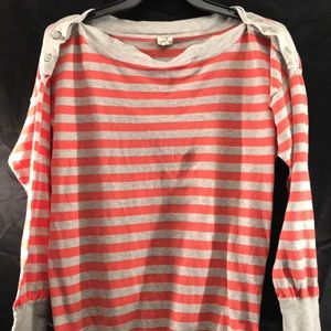 J Crew striped long sleeve shirt